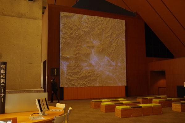 群馬の森 群馬県の立体地図模型プロジェクトマッピング