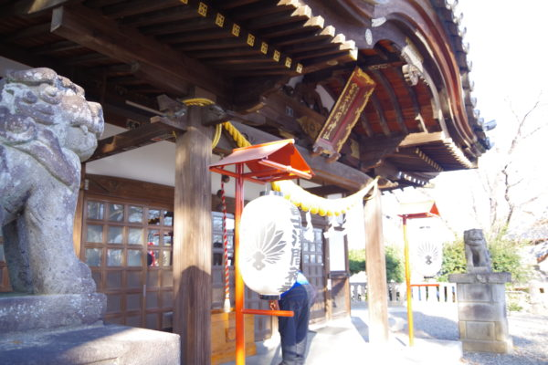 富士浅間神社 本殿と狛犬