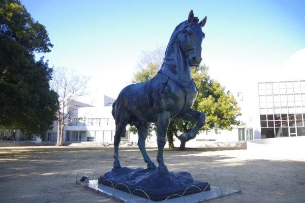 群馬の森 大きな馬の像