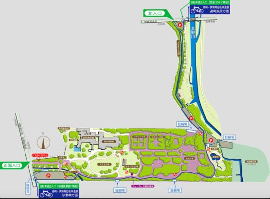 群馬の森 敷地内マップ