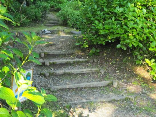小野池あじさい公園 木製階段