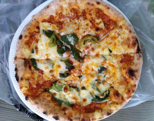 道の駅甘楽 轟みそピザ
