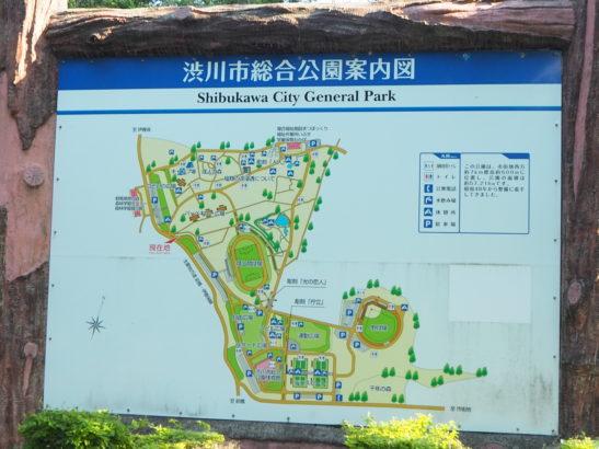渋川市総合公園 案内図