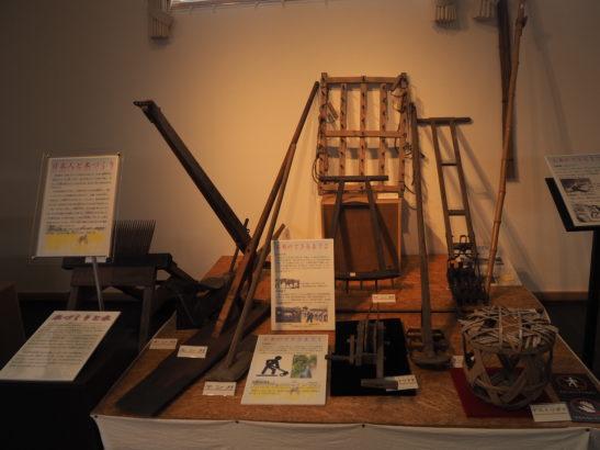 前橋市総社歴史資料館 展示品 農具