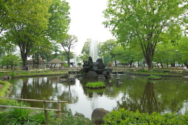 高崎公園 池 噴水