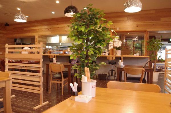 テーブル席 城町食堂 館林