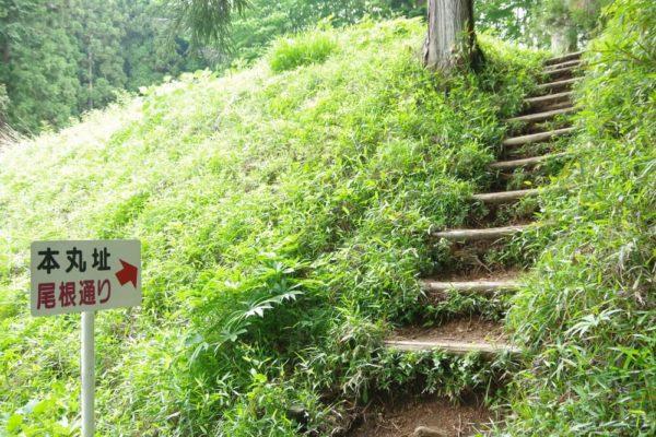 尾根通り階段 岩櫃城