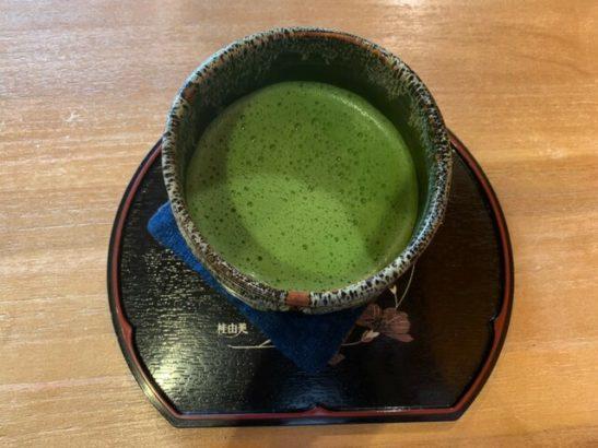 ドリンクの抹茶2 茶フェ ちゃきち 富岡市