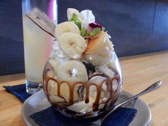 POKKAPOKACAFE ぽっかぽかカフェ 高崎 バナナチョコパフェ