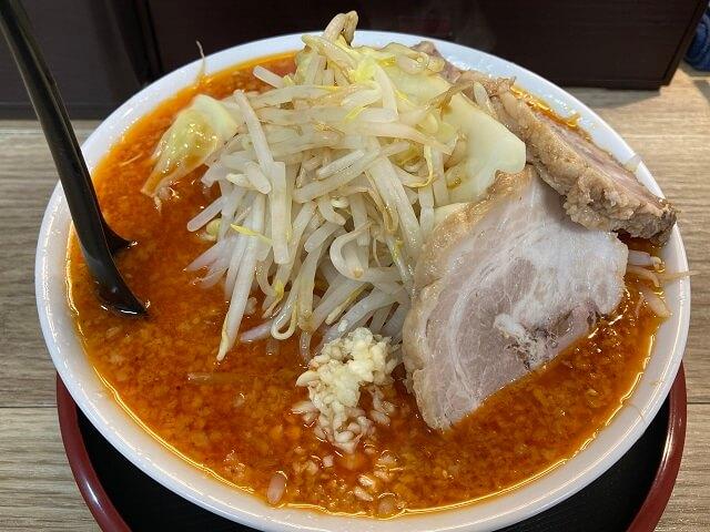 前橋市 麺屋富味 二郎系ラーメン