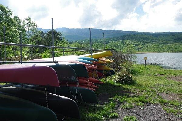 嬬恋村バラギ高原 バラギ湖 キャンプ場 カヌー 釣り