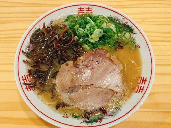 埼玉県熊谷市石原 豚骨ラーメン てっちゃん メニュー